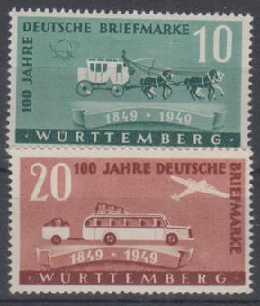 49 - Französische Zone Württemberg Nr. 49 + 50