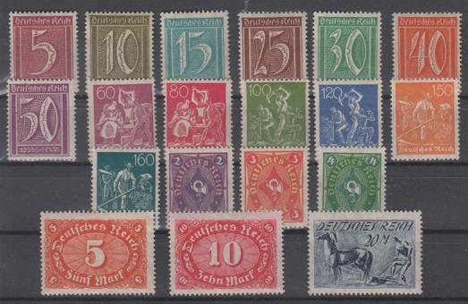158 - Deutsches Reich Infla Nr. 158 - 176