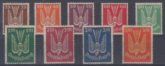 210 - Deutsches Reich Infla Flugpost Nr. 210 - 218