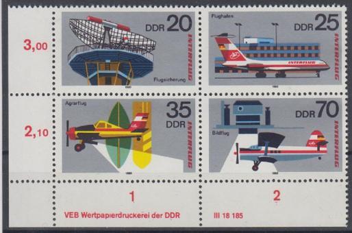 2516 - DDR Nr. 2516 - 2519 Viererblock DV 0