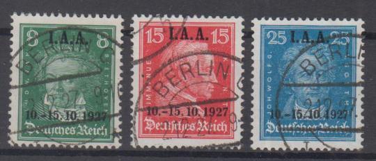 407 - Deutsches Reich Nr. 407 - 409