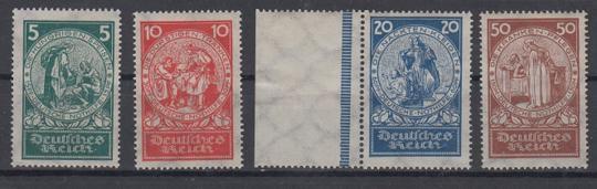 351 - Deutsches Reich Nothilfe Nr. 351 - 354
