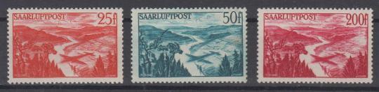 252 - Saarland Flugpostmarken Nr. 252 - 254