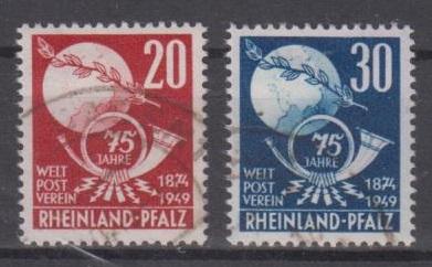 51 - Frz. Zone Rhl.-Pfalz Nr. 51 + 52