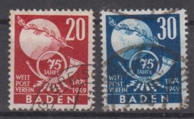 56 - Frz. Zone Baden Nr. 56 + 57