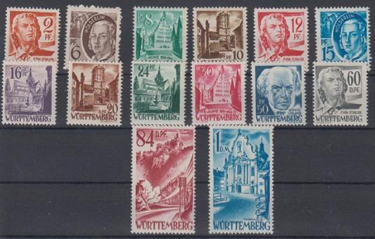 14 - Französische Zone Württemberg Nr. 14-27