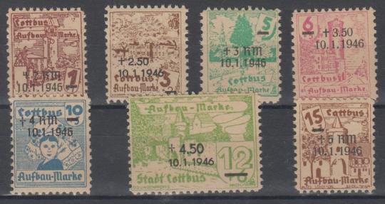 25 - Deutsche Lokalausgaben Cottbus Nr. 25-31