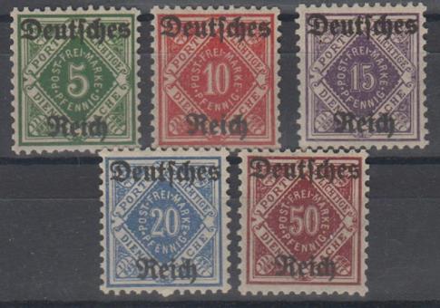 052 - Deutsches Reich Dienst Nr. 52-56
