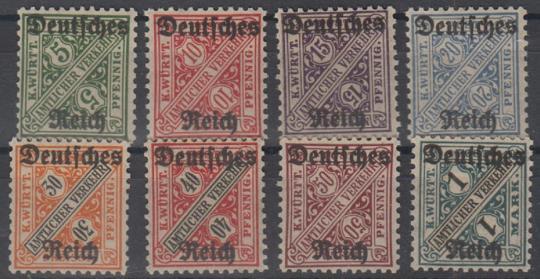 057 - Deutsches Reich Dienst Nr. 57-64