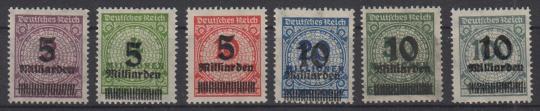 332 - Deutsches Reich Infla Nr. 332 A - 337 A